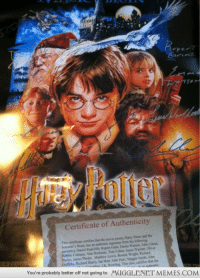 "Birthday, Daniel Radcliffe, and Emma Watson: Certificate of Authenticity  This certificate certifies that the movie poster, Harry Potter and the  Sorcerer's Stone, has an authentic signature from the following  person s); Daniel Radcliffe, Rupent Grint, Emma Watson, John Cleese  Robbie Coltrane, Alan Rickman, Tom Felton, Jamic Waylett, Oliver  Phelps, James Phelps, Matthew Lewis, Bonnie Wright, Richand  Griffiths, Richard Harris, lan Hart, John Hurt,Maggie Smith, John  You're probably better off not going to MUGGLENET MEMES.COM  This also, certifies that the <p>Birthday gift!! <a href=""http://ift.tt/12xVPB8"">http://ift.tt/12xVPB8</a></p>"