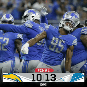 FINAL: The @Lions win their home opener! #LACvsDET https://t.co/aPv50am5Xa: CF  ΕΤ  ΝNN-  Η  FINAL  10 13  μο FINAL: The @Lions win their home opener! #LACvsDET https://t.co/aPv50am5Xa