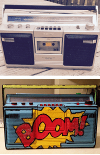 Tumblr, Blog, and Http: CFS-43  0 srsfunny:Painted Boombox