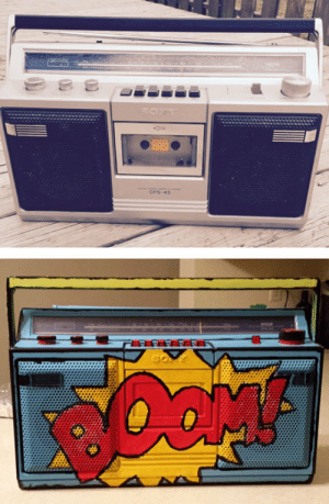 srsfunny:Painted Boombox: CFS-43  0 srsfunny:Painted Boombox