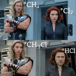 Face swaps are really just substitution reactions in meme form (via @sciencejokes101): CHA  *Cl2  -k  ashome  *CH C Face swaps are really just substitution reactions in meme form (via @sciencejokes101)
