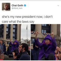 """Kendall Jenner, Memes, and Goths: Chai Goth  @Abid ism  she's my new president now, i don't  care what the laws say """"I follow @kalesalad and u should too"""" - Kendall Jenner and Jesus"""