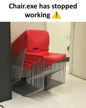 Chair.exe has stopped working: Chair.exe has stopped  working! Chair.exe has stopped working