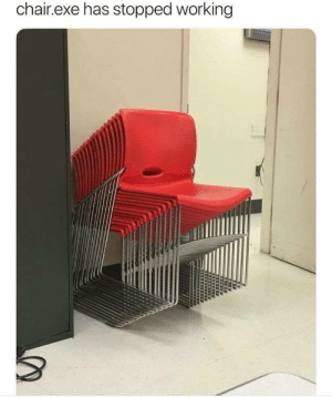 Dank, Memes, and Target: chair.exe has stopped working Poor chair by Priyanshu0 MORE MEMES