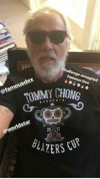 Tommy Chong responds to Famous Dex.. how long do y'all think Dex would last smoking with Tommy?! 👀🤔 @tommychong @FamousDex https://t.co/DZeIYf1vkq: Challenge accepted  Famous Dex  @famousdex  TOMMY. CHONG  PRES ENTS  ak  @worldstar  20 17  BLALE Tommy Chong responds to Famous Dex.. how long do y'all think Dex would last smoking with Tommy?! 👀🤔 @tommychong @FamousDex https://t.co/DZeIYf1vkq