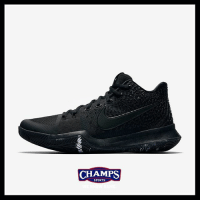 Fresh, Memes, and Nike: CHAMPS  CHAMPS  SPORTS Fresh new Nike Kyrie 3 on deck for 8-5 in black and a trace of white! Are you feeling these?