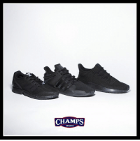 Memes, School, and Sports: CHAMPS  SPORTS Back to school time! Triple black @adidasoriginals in the best styles now at Champs!