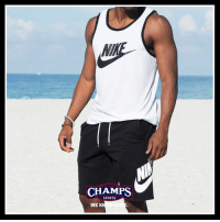Memes, Nike, and Sports: CHAMPS  SPORTS  WE K Good on any surface. Nike Ace tanks and Alumni shorts available now.