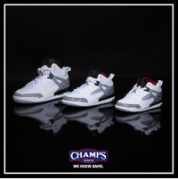 "Memes, Sports, and Game: CHAMPS  SPORTS  WE KNOW GAME. A @officialspikelee joint. Jordan Spizike ""Cement"" is now available in kids size runs! Tap to shop!"