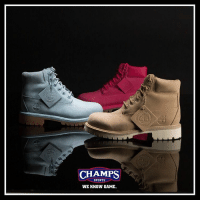 """Memes, Timberland, and Iconic: CHAMPS  SPORTS  WE KNOW GAME. An icon dressed up specifically for kids. Get into the """"Pastel"""" @timberland pack now at Champs in GS sizing!"""