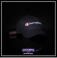Dad, Memes, and Sports: CHAMPS  SPORTS  WE KNOW GAME Dad hats by @champion now at Champs!