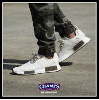 "Memes, Sports, and Game: CHAMPS  SPORTS  WE KNOW GAME Don't sleep on these! Champs exclusive @adidasoriginals NMD ""Chalk and Olive"" is now in stores an online. @csg.brand weknowgame"