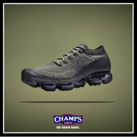 "Memes, Nike, and Sports: CHAMPS  SPORTS  WE KNOW GAME. Step out in the new Nike Vapor Max ""Olive""! Available now at Champs!"