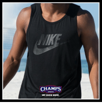Summer fun in the Nike Ace Tank. Pick it up now at Champs!: CHAMPS  SPORTS  WE KNOW GAME Summer fun in the Nike Ace Tank. Pick it up now at Champs!