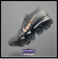 "Memes, Nike, and Sports: CHAMPS  SPORTS  WE KNOW GAME. Taking inspiration from original deep sea divers, the Nike Vapor Max ""Explorer"" collection launches this Thursday in men's and women's!"