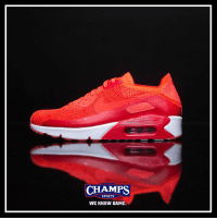 Memes, Sports, and Game: CHAMPS  SPORTS  WE KNOW GAME The classic AirMax90 gets a knit upgrade! Now at Champs!