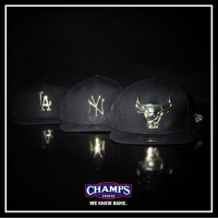 Memes, Sports, and Game: CHAMPS  SPORTS  WE KNOW GAME. The gold standard. Pick our latest metal logo @neweracap collection now at Champs!