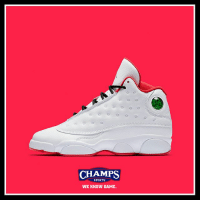 """The Jordan 13 """"History of Flight"""" ☁️ also release in all kids sizing tomorrow at select stores and online.: CHAMPS  SPORTS  WE KNOW GAME. The Jordan 13 """"History of Flight"""" ☁️ also release in all kids sizing tomorrow at select stores and online."""