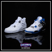 """The Jordan 4 is one of the best MJ silhouettes of all time. Pick up the """"Pure Money"""" and """"Motorsport"""" now at select Champs!: CHAMPS  SPORTS  WE KNOW GAME The Jordan 4 is one of the best MJ silhouettes of all time. Pick up the """"Pure Money"""" and """"Motorsport"""" now at select Champs!"""