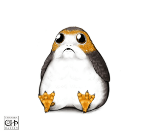 chandrahabein: Porg: *Heavy Breathing* To be honest I have no words for why I made this. All I know is I love Star Wars and porgs. I hope this plump porg brightens your day!~ XD : CHANDRA  HABE I N chandrahabein: Porg: *Heavy Breathing* To be honest I have no words for why I made this. All I know is I love Star Wars and porgs. I hope this plump porg brightens your day!~ XD