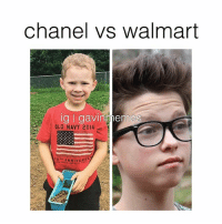 Cute, Love, and Memes: chanel vs walmart  g nes  OLD NAVY 2014  ANNIVERSA comment a couple ❤️ emojis if you love Gavin! 📸; @katiebaby83 & @nickmastodon Cute KingGavin GavinMemes