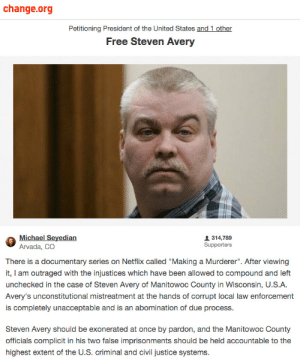 """Free Steven Avery 
