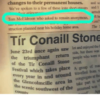 38 Fails You Won't Believe Actually Happened: changes to their permanent houses. and s  We've spoken to a few of these irate short-stavers and I  armch  t bu  ess?  beir orievano  Tom McEldroon who asked to remain anonymous,  struction planned near his holiday home area.The  Tír Conaill Stone  June 23rd once again saw lot and enjoyed the  side, but there was  people who were n  the  triumphant  return  of the Tír Conaill Stone even  Festival which takes place A group of ns  every year in and aro  congregate  area in congregate at the  west of the take part in w  toned' Apt  the Glencolmcille  cenic  county  assumed was 38 Fails You Won't Believe Actually Happened