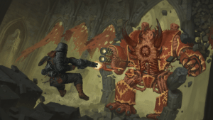 chapter-master-darius:  randomnightlord:  feniczoroark:  randomnightlord:  feniczoroark:  randomnightlord:  feniczoroark:  randomnightlord:  feniczoroark:  just-another-guardsman:  wh40kartwork:  Krieger by  Rotaken    The certified madlad   Huh neatWaitThat gun looks familiarHmmm. Ah.Whack   The Gatling MG42 is literally the worst fucking thing i have ever seen in my life of being interested in history and Videogames   Worst design yes and I can name so much of the pointless bullshit with itHell. Only remembered the piece of shit weapon because I once spent half an hour staring at its stock for study   Also didn't it have like one or two mags? Those things only really held up to 100 shots at best. 200 shots for a Gatling gun mg42 that probably shoots even faster than the 1400rpm the original hasThat is no lmg. Thats a shotgun with a weight of like 40 kilos by the looks of it   It had 1 magazine. No reloadability (also had no dust tray cover release thing or drum release). Some bs about balancing. 250 rounds in game for somme reason. Last I checked those kinds of drums could only hold a 50 round belt. Lowest firerate on any modern rotary barrel weapon is 1000rpm of the Gau-19, the same wepaon can achive 2000rpm. But thats 50cal/12.7. Assuming this uses the same ammo as the MG42, than that would be 7.92×57, the nearest weapons we have for that is the US M134 which has a firerate of 3000rpm to 6000rpm or the Russian GShG-7.62 (a 4 barreled one) which has 3500rpm to 6000rpm. So realistically the 50 round belt would be used up in 1 second to half a second. The 250 belt would be 5 seconds to 2 and a half seconds. Thats nowhere near enough. So again, bad design. Also if it uses a belt it would need a delinker.The barrel shroud was left on each individual barrel, forcing the barrels apart. More weight. Would also need a more powerful rotor to spin it. Gatling weapons forgo barrel shrouds because the multiple barrels are to help cooling.The foregrip was in the right place b