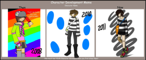 Jesus, Meme, and Memes: Character Development Meme  Character Name:  Then  Now  Trust me hunni,  Z010  We look  AWESOME~  2010  2008  How much has YOUR Character developed since you first drew them? Jesus Sandals Memes ~ Jesus Sandals