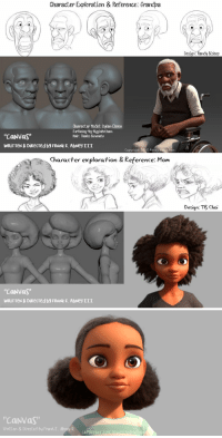 "animationtidbits: Canvas - Kickstarter  The texture on that hair though!!I also love how he says that he recognized what he felt was a dearth of positive African-American representation in animated media so he decided to create some. That's what you should do instead of bitching. Don't demand certain things from other people's creations, make your own 🎨 : Character Exploration & Reference: Grandpa  Character Model: Dyfan Ekren  Surfacing Meg Higginbotham  Hair: Thales Simonato  ""CaNVaS  WRİTTEN & DİRecred by FRaNk E. AbNey 111  Copyright 20E Abmey aion   Character exploration & Reference: Mom  Design: TB Choi  CaNVaS  WRİTTeN & DiRecTed by FRank E. AbNey 111   CaNvas  Written & Directed by Frank E. Abne animationtidbits: Canvas - Kickstarter  The texture on that hair though!!I also love how he says that he recognized what he felt was a dearth of positive African-American representation in animated media so he decided to create some. That's what you should do instead of bitching. Don't demand certain things from other people's creations, make your own 🎨"