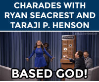 """<p><a href=""""https://www.youtube.com/watch?v=nzXImRocwD8&amp;list=UU8-Th83bH_thdKZDJCrn88g"""" target=""""_blank"""">Ryan Seacrest and Jimmy team up against Taraji P. Henson and Tariq in a fun game of Charades!</a></p>: CHARADES WITH  RYAN SEACREST AND  TARAJI P. HENSON   # FALLO NTONIGHT  CHARADES  BASED GOD! <p><a href=""""https://www.youtube.com/watch?v=nzXImRocwD8&amp;list=UU8-Th83bH_thdKZDJCrn88g"""" target=""""_blank"""">Ryan Seacrest and Jimmy team up against Taraji P. Henson and Tariq in a fun game of Charades!</a></p>"""