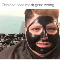 Charcoal face mask gone wrong Swipe to watch the whole thing😂😅😂