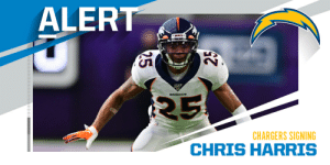 Chargers signing CB Chris Harris. (via @Rapsheet) https://t.co/Xg5muZdet3: Chargers signing CB Chris Harris. (via @Rapsheet) https://t.co/Xg5muZdet3