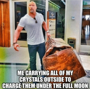 Charging Crystal's under the full Moon meme #moon #fullmoon #crystals: Charging Crystal's under the full Moon meme #moon #fullmoon #crystals