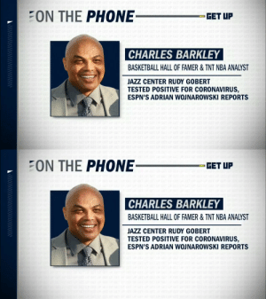 """CHARLES BARKLEY: """"I'm probably going to get in trouble cause I work for Turner & CBS...I think we need to close down March Madness...You can't have these players breathing on each other for 2 weeks.""""   (Via @GetUpESPN)    https://t.co/spi2kuvDZj: CHARLES BARKLEY: """"I'm probably going to get in trouble cause I work for Turner & CBS...I think we need to close down March Madness...You can't have these players breathing on each other for 2 weeks.""""   (Via @GetUpESPN)    https://t.co/spi2kuvDZj"""