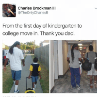 😭😭😭 diply diplymemes backtoschool inspo memes dadsofinstagram college cute fatherson: Charles Brockman III  @TheOnlyCharlesB  From the first day of kindergarten to  college move in. Thank you dad. 😭😭😭 diply diplymemes backtoschool inspo memes dadsofinstagram college cute fatherson