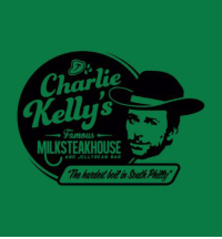 The coolest Charlie Kelly shirt ever! Enter to win it at: http://giveaway.alwayssunnyshirts.com/  We will be drawing one winner tonight. Enter at the link above and Like this status.: Charlie  Famous-  ILK STEAKHOUSE  AND JELLY BEAN BAR The coolest Charlie Kelly shirt ever! Enter to win it at: http://giveaway.alwayssunnyshirts.com/  We will be drawing one winner tonight. Enter at the link above and Like this status.