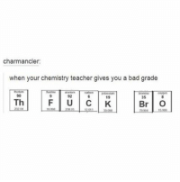 Memes, 🤖, and Rice: charmancler:  when your chemistry teacher gives you a bad grade  90  F U C K  Th  Br O i really want to eat rice right now- luke