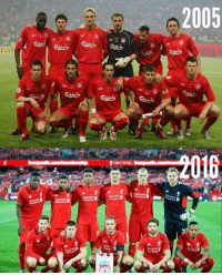 Liverpool in 2005 vs Liverpool in 2016: Chartered  Chartered  FUNNY FOOTBALL  Standard  Standard  Standard  tandard  Chartered  Standard  2005 Liverpool in 2005 vs Liverpool in 2016