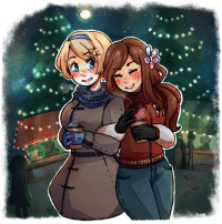 Target, Tumblr, and Blog: chartini: My secret santa gift for @nowidontgetit ! They asked for Hungary  Ukraine! The prompt I used was hot chocolate, with a touch of cuddling together for warmth. I hope you like it!