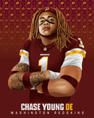 Chase Young. Second overall to the @Redskins! 🙌 #NFLDraft @youngchase907 https://t.co/uQm35kVOBU: Chase Young. Second overall to the @Redskins! 🙌 #NFLDraft @youngchase907 https://t.co/uQm35kVOBU