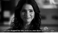 http://iglovequotes.net/: CHCH  And she dropped her fake smile as a tear down down her cheek  LONELY-UNICORN http://iglovequotes.net/