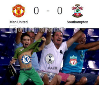 Manchester United 0-0 Southampton: CHE  0-0  WITED  Man United  Southampton  AZR Manchester United 0-0 Southampton