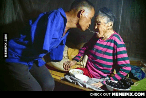 Man who has lost both his arms is taking care of his old motheromg-humor.tumblr.com: CHECK OUT MEMEPIX.COM  MEMEPIX.COM Man who has lost both his arms is taking care of his old motheromg-humor.tumblr.com