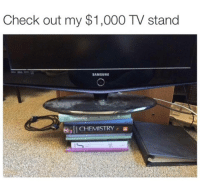 Samsung, Statistics, and Chemistry: Check out my $1,000 TV stand  SAMSUNG  Statistics  CHEMISTRY