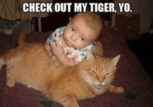 27 Super Funny Baby  27 Super Funny Baby Memes: CHECK OUT MY TIGER, YO. 27 Super Funny Baby  27 Super Funny Baby Memes