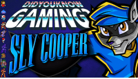 Check out the latest Did You Know Gaming? video, the PlayStation's Sly Cooper series! https://www.youtube.com/watch?v=GNj_ojM5GLY&list=PL26D7E5A7D29CCAB3: Check out the latest Did You Know Gaming? video, the PlayStation's Sly Cooper series! https://www.youtube.com/watch?v=GNj_ojM5GLY&list=PL26D7E5A7D29CCAB3