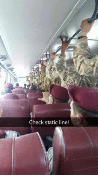 Military, Static, and Check: Check static line!