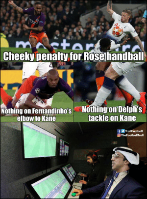 It all makes sense now https://t.co/R9JifIlQNR: Cheeky penalty for Rose handbal  Nothing on Fernandinho's Nothing on Delpfi:s  elbow to Kane  tackle on KanG  f Troll Football  TheFootballTroll It all makes sense now https://t.co/R9JifIlQNR