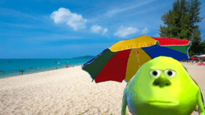 Cheer Mike up Cuz hes stuck on a vacation.: Cheer Mike up Cuz hes stuck on a vacation.